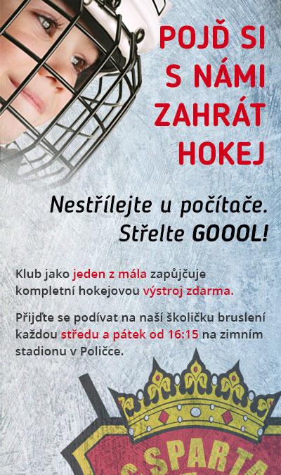 Pojď si s námi zahrát hokej